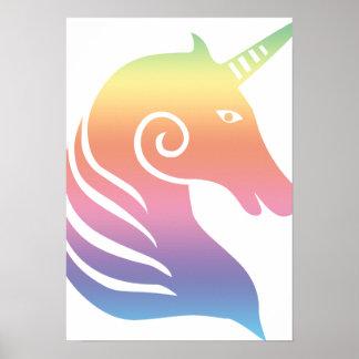 Colorful Unicorn Poster