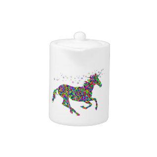Colorful Unicorn Teapot at Zazzle