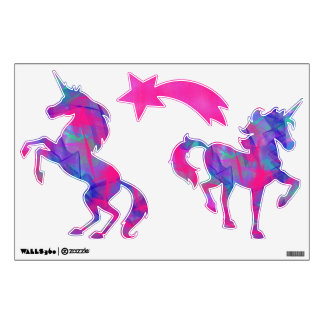 Colorful unicorn wall decals
