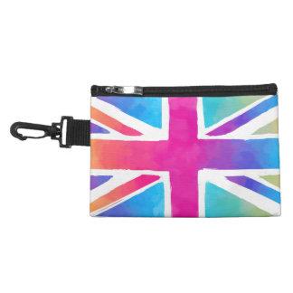 Colorful Union Jack Flag Accessory Bags