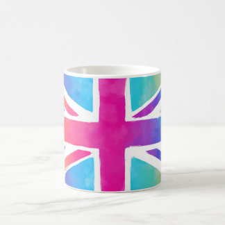 Colorful Union Jack Flag Coffee Mug