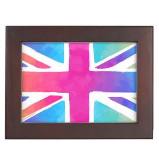 Colorful Union Jack Flag Memory Box