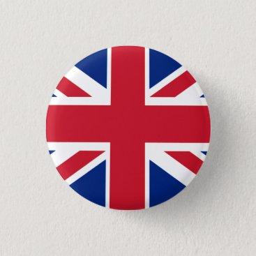 Flags2Go Colorful Union Jack Pinback Button