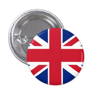 Colorful Union Jack Pinback Button