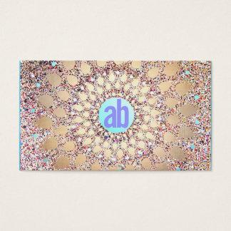 Colorful, Unique and Festive Monogram Glitter Business Card