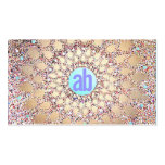 Colorful, Unique and Festive Monogram Glitter Double-Sided Standard Business Cards (Pack Of 100)