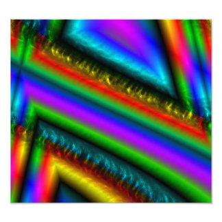 Colorful unique line pattern art photo