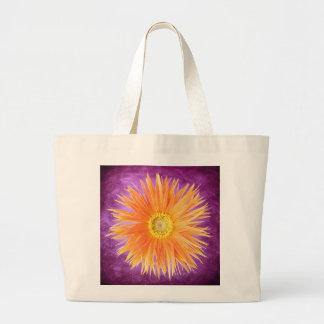 Colorful Unique Orange Flower Blossom Floral Large Tote Bag