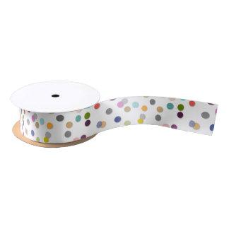 Colorful Unisex Bold Polka Dot Confetti Ribbon