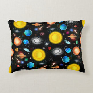 Colorful Universe Astronomy Space Accent Pillow