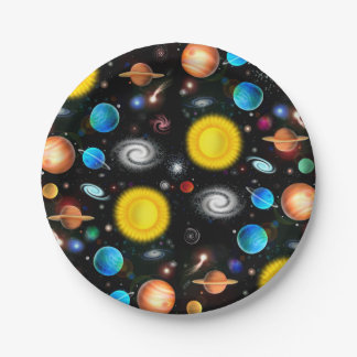 Colorful Universe Astronomy Space Paper Plates 7 Inch Paper Plate