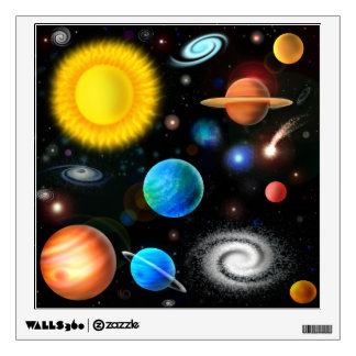 Colorful Universe Astronomy Wall Sticker