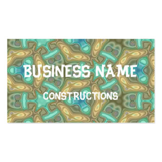 Colorful unusual pattern business card