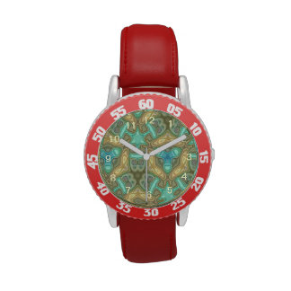 Colorful unusual pattern wrist watches