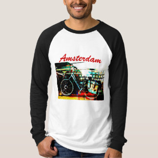 colorful urban bike collage Amsterdam series T-Shirt