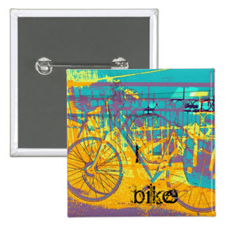 colorful urban bike collage pins