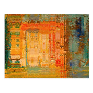 Colorful urban by rafi talby postcard