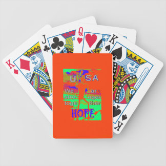 Colorful USA Hillary Hope We Are Stronger Together Bicycle Playing Cards