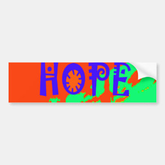 Colorful USA Hillary Hope We Are Stronger Together Bumper Sticker