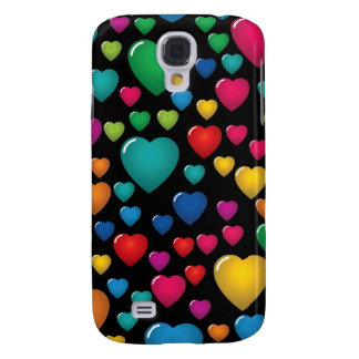 Colorful Valentine Hearts iPhone 3G/3GS Case