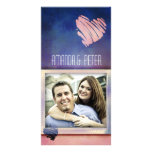 Colorful Valentine's / Love card photo template Photo Cards