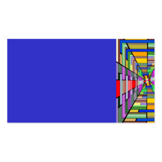 COLORFUL VANISHING POINT RECTANGLE SHAPES OPTICAL BUSINESS CARD TEMPLATES