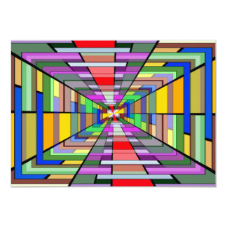 COLORFUL VANISHING POINT RECTANGLE SHAPES OPTICAL CUSTOM ANNOUNCEMENT