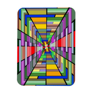 COLORFUL VANISHING POINT RECTANGLE SHAPES OPTICAL MAGNET