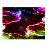Colorful vapours abstract art post cards