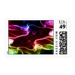 Colorful vapours abstract art postage
