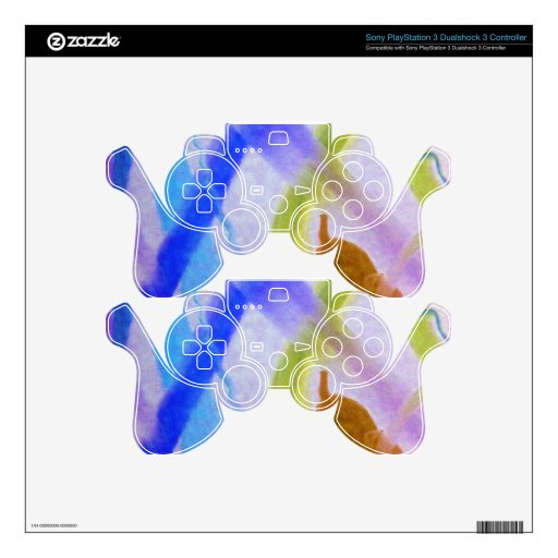 Colorful Variation 1 PS3 Controller Skin