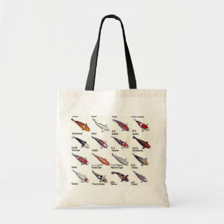 Colorful Varieties of Koi Fish Drawing Pattern Budget Tote Bag