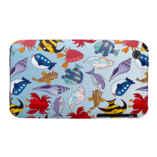 Colorful variety of fish. iPhone 3 case
