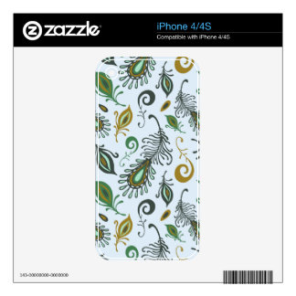 Colorful Various Feathers Skins For iPhone 4