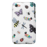 Colorful Vector Bugs & Butterflies iPhone 3 Case-Mate Case