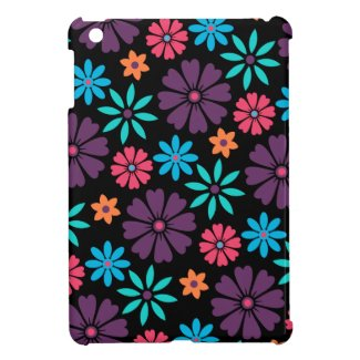 Colorful Vector Flower Pattern Case For The iPad Mini