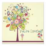 colorful vector flower tree bliss announcement