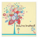 colorful vector flower tree bliss color version 2 invites