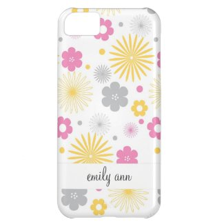 Colorful Vector Flowers Pattern iPhone 5C Cases