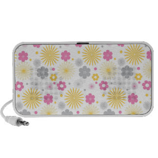 Colorful Vector Flowers Pattern Portable Speakers