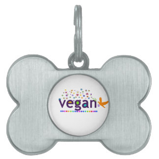 Colorful Vegan Pet Name Tag