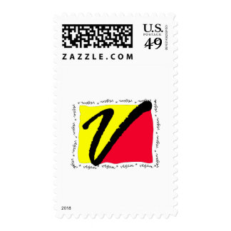 Colorful Vegan Postage Stamp