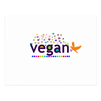 Colorful Vegan Postcard