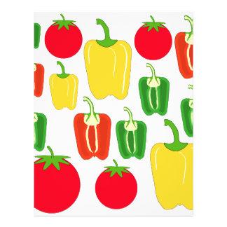 "Colorful Vegetables. 8.5"" X 11"" Flyer"
