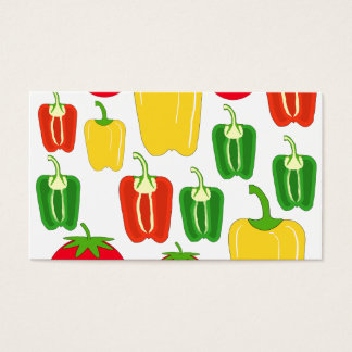 Colorful Vegetables. Business Card