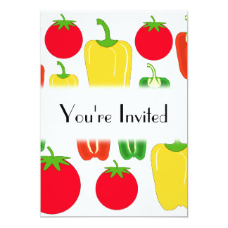 Colorful Vegetables. Card