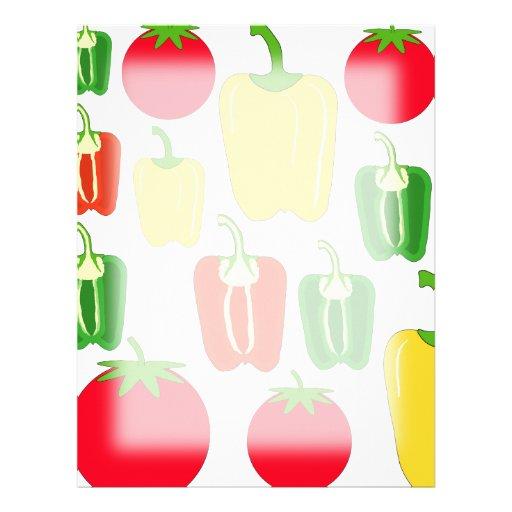 Colorful Vegetables. Letterhead
