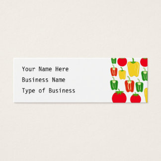 Colorful Vegetables. Mini Business Card