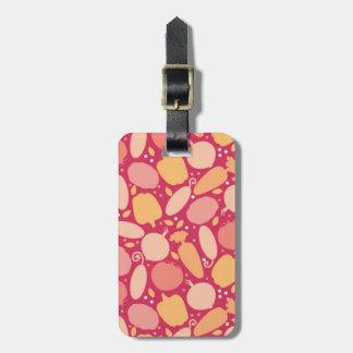 Colorful vegetables pattern bag tag