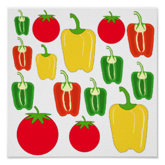 Colorful Vegetables. Poster